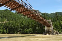 alexandra bridżowy skrzyżowanie fraser historycznej rzeki zdjęcie stock