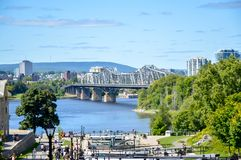 Alexandra Bridge Arkivfoto