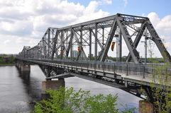 Alexandra Bridge en Gatineau horizon, Ottawa royalty-vrije stock foto
