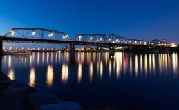 Alexandra Bridge at Night stock photography