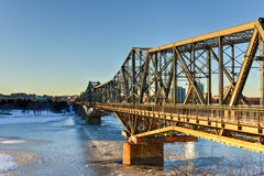 Alexandra Bridge - Ottawa, Canada photographie stock libre de droits
