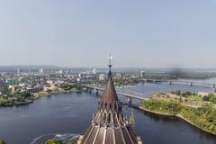 Alexandra Bridge in Ottawa Canada royalty free stock photos