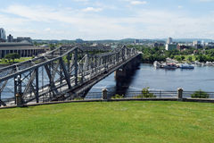 Alexandra Bridge, Ottawa, Ontario, Canada Photographie stock