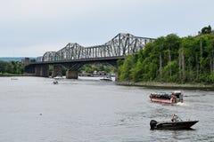 Alexandra Bridge, Ottawa, Ontario, Kanada stockbilder