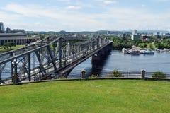 Alexandra Bridge Ottawa, Ontario, Kanada Arkivbild
