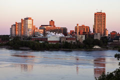 Alexandra Bridge and skyline of Gatineau Stock Image