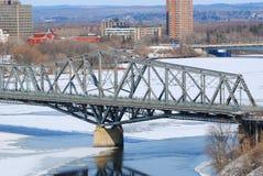Alexandra Bridge winter view, Ottawa royalty free stock photography