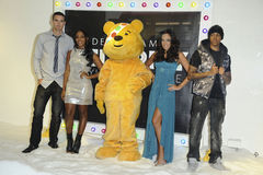 Alexandra Burke, Kevin Pietersen, Tamara Ecclestone Royalty Free Stock Photo