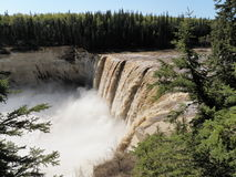 Alexandra Falls NWT, Canada. First set of Falls on the Hay River in Northwest Territories in Northern Canada. The falls are North of the 60 parallel Stock Photos