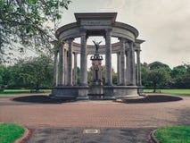 Alexandra Gardens Temple in Cardiff royalty-vrije stock fotografie