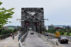 Alexandra most, Ottawa, Ontario, Kanada zdjęcia stock