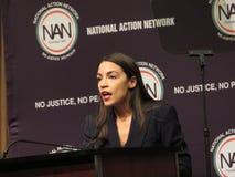 Alexandra Ocasio-Cortez przy Krajową akcji sieci konferencją obraz royalty free