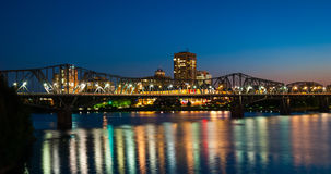 Free Alexandra Rail And Traffic Bridge At Night. Royalty Free Stock Images - 63975489