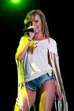 Alexandra Stan performing Mr. Saxobeat Stock Photography