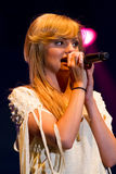 Alexandra Stan performing Mr. Saxobeat Stock Images