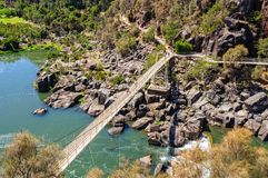 Suspension bridge - Launceston Stock Images