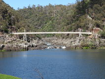 Alexandra Suspension Bridge, Launceston, Tasmania stock photography