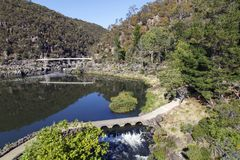 Cataract Gorge in Launceston - Tasmania royalty free stock photo