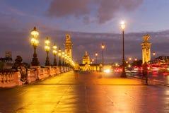 alexandre桥梁法国iii巴黎 免版税库存照片