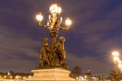 alexandre桥梁法国iii巴黎 库存照片