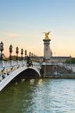 Alexandre桥梁III在巴黎,法国 免版税库存照片