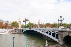 alexandre桥梁iii巴黎pont 免版税库存图片