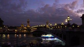 Alexandre桥梁III,巴黎,法国 股票视频