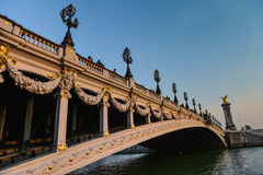 alexandre桥梁iii巴黎 免版税图库摄影