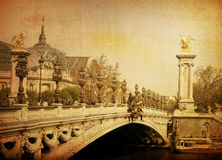 Alexandre ΙΙΙ pont Στοκ φωτογραφία με δικαίωμα ελεύθερης χρήσης