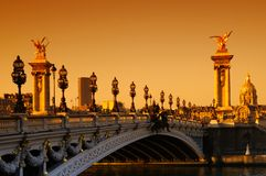 Alexandre 3 bridge in paris Stock Image