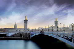 Alexandre 3 bridge - Paris - France Royalty Free Stock Images