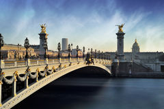 Alexandre 3 bridge - Paris - France Royalty Free Stock Photos