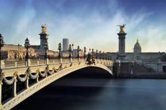 Alexandre 3 Bridge - Paris - France Royalty Free Stock Photos