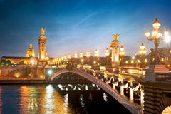 Alexandre 3 bridge - Paris - France Royalty Free Stock Photography