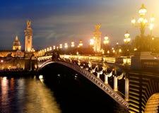Alexandre 3 Bridge, Paris Royalty Free Stock Photo