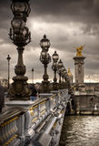 alexandre brofrance iii paris pont Royaltyfri Bild