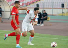 Alexandre Durimel and Anton Shynder in Dinamo Bucharest-Shaktar Donetk Royalty Free Stock Images
