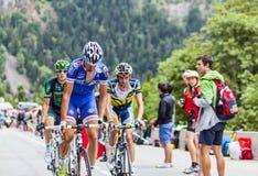 Alexandre Geniez que escala Alpe d'Huez Foto de Stock Royalty Free