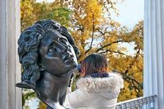 Alexandre The Great Bust auf Cameron Gallery pushkin StPetersburg Lizenzfreie Stockbilder