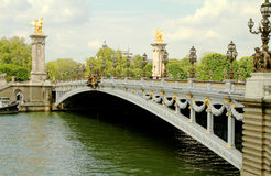 alexandre iii巴黎pont 免版税库存照片