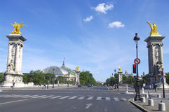 """« Alexandre III » bridge and the """" Grand Palais """" Royalty Free Stock Photography"""