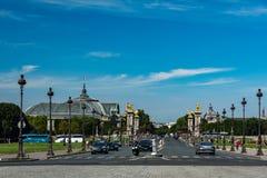 Alexandre III bridge and the big palace Royalty Free Stock Photos