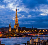 Alexandre III Bridge and Eiffel tower, Paris Royalty Free Stock Photography