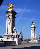 Alexandre III bridge, Paris. Stock Photos