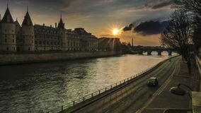 Alexandre III Bridge in Paris stock footage