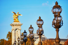 Alexandre III bridge in Paris, France Stock Photo