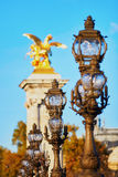 Alexandre III bridge in Paris, France Royalty Free Stock Images