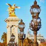Alexandre III bridge in Paris, France Stock Images