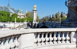 Alexandre III bridge in Paris, France Stock Photos