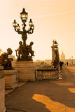 Alexandre III bridge, Paris - France Royalty Free Stock Photography